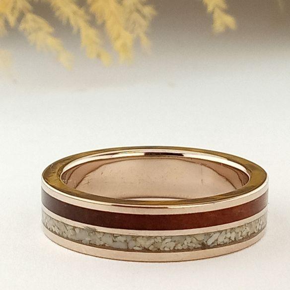Anelli con Sabbia Anello in oro bianco, sabbia e ciliegio € Viademonte Jewelry