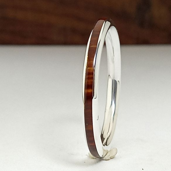 Stackable rings Original wood and silver ring made with cocobolo wood 120,00 € Viademonte Jewelry