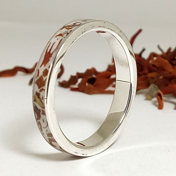 Sand rings Silver ring made with magnolia petals - Original anniversary rings 140,00 € Viademonte Jewelry