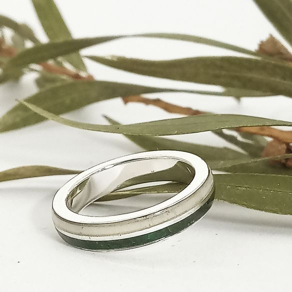 Ringe mit Horn und Horn Original Silberring, grünes Birkenholz und Elchhorn 140,00 € Viademonte Jewelry