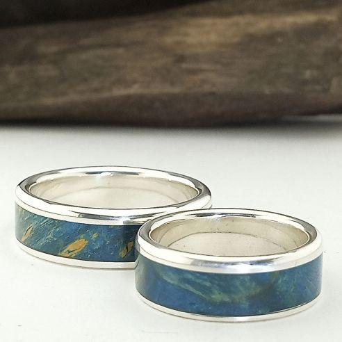 Original wedding ring set in silver...