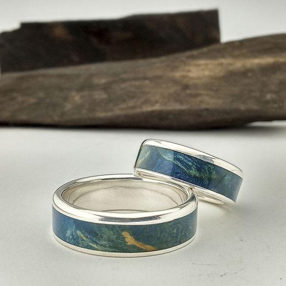 anillos originales azules