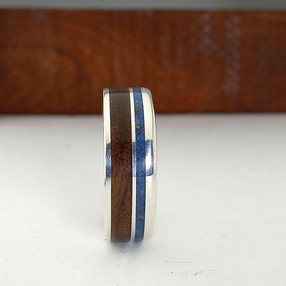 Sand rings Original wooden rings - Lapislazuli and walnut wood 170,00€ Viademonte Jewelry