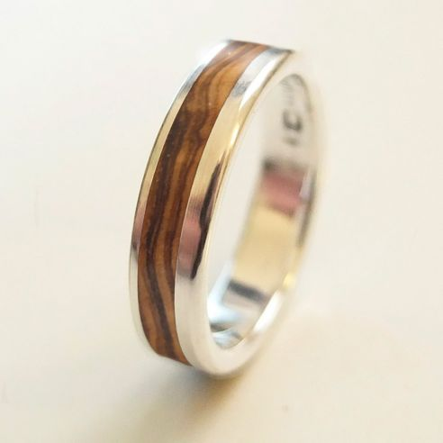Silver wood rings Original Silver ring and olive wood 140,00 € Viademonte Jewelry