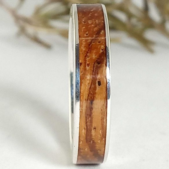 Silver wood rings Original ring made in silver and zebrawood 130,00€ Viademonte Jewelry
