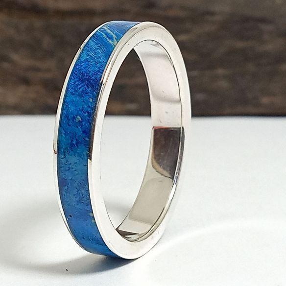 Silver wood rings Original wooden silver band - Birch wood 130,00€ Viademonte Jewelry