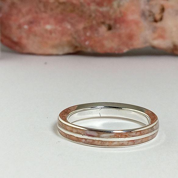Anillos con Arena Alianza de plata y conchas de mar 140,00€ Viademonte Jewelry