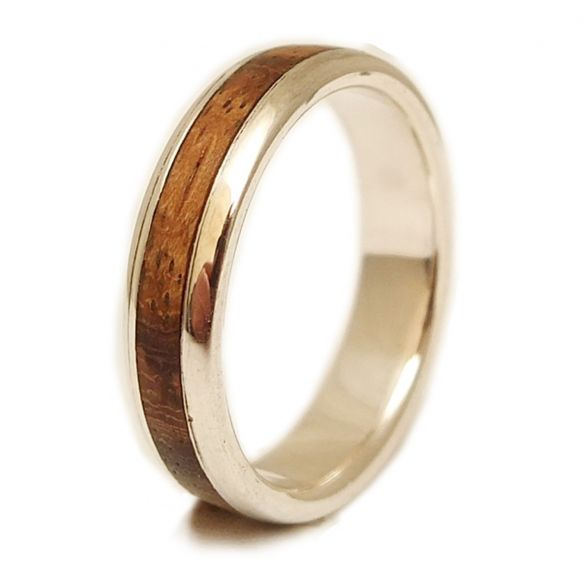 Silver wood rings Sterling silver ring and zebrano wood 155,00€ Viademonte Jewelry